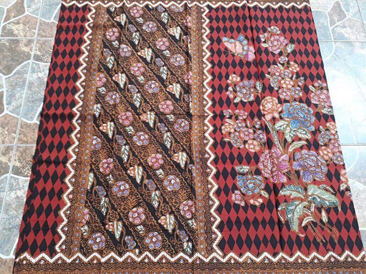 Kain Batik Encim Kombinasi Batik Sogan Halus