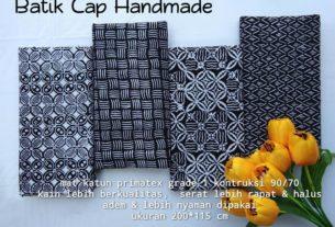 kain batik cap garutan warna hitam