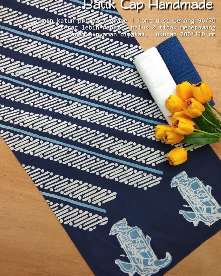 kain batik cap motif wayang kombinasi parang