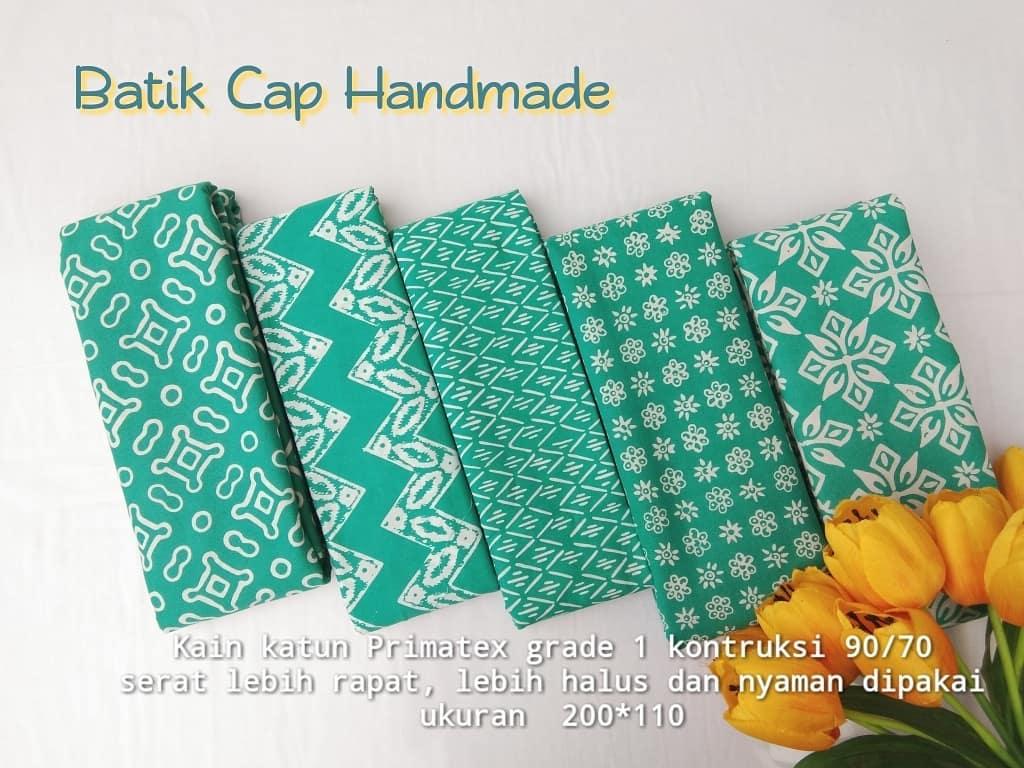 batik cap pekalongan motif garutan warna hijau
