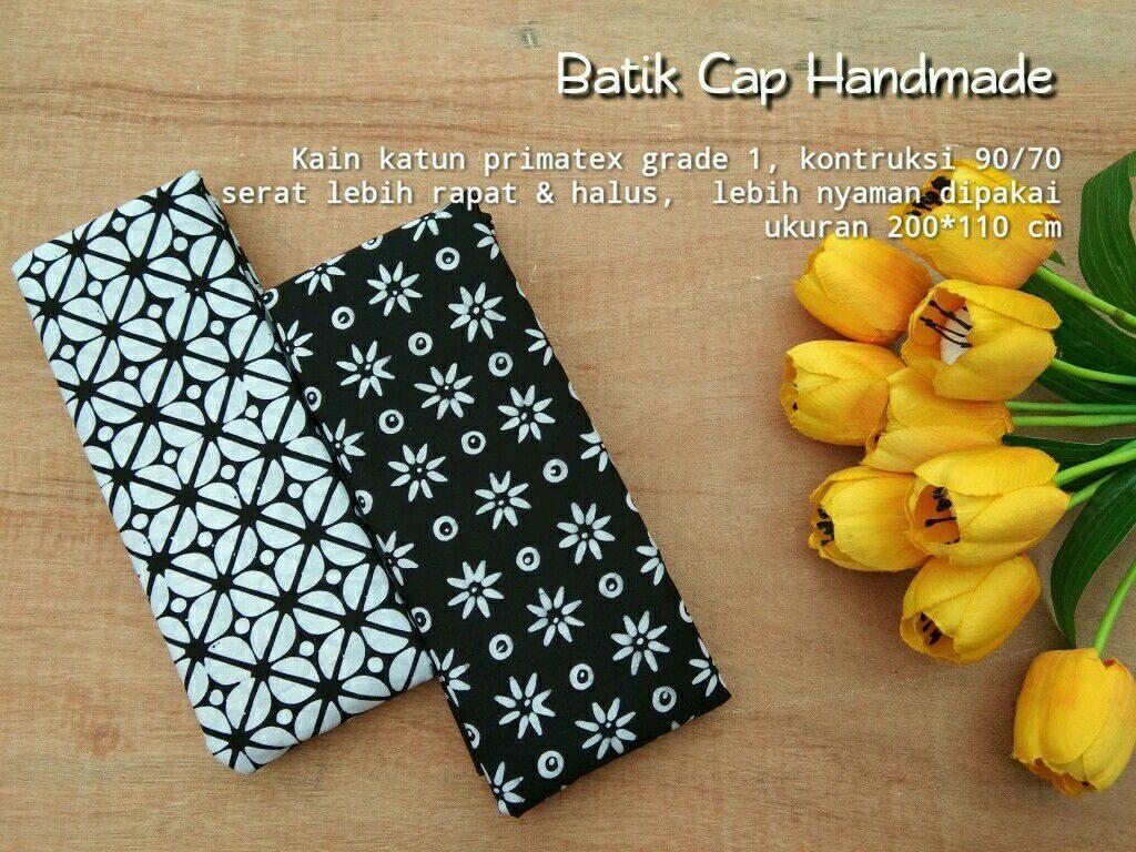 batik cap halus garutan warna hitam motif truntum dan motif parang