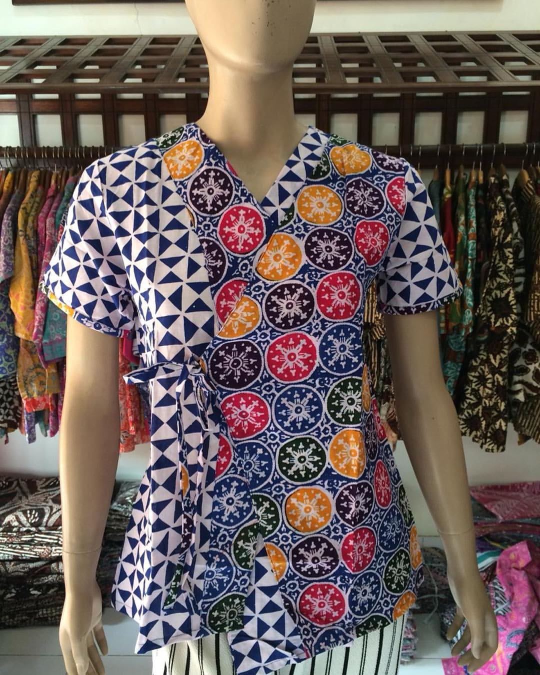Jual Baju Batik Wanita Lengan Pendek Model Kombinasi 18 5 Store