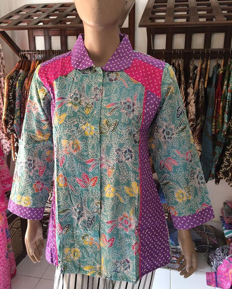 baju batik wanita lengan panjang