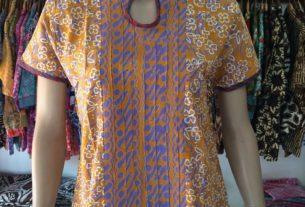 baju batik wanita lengan pendek