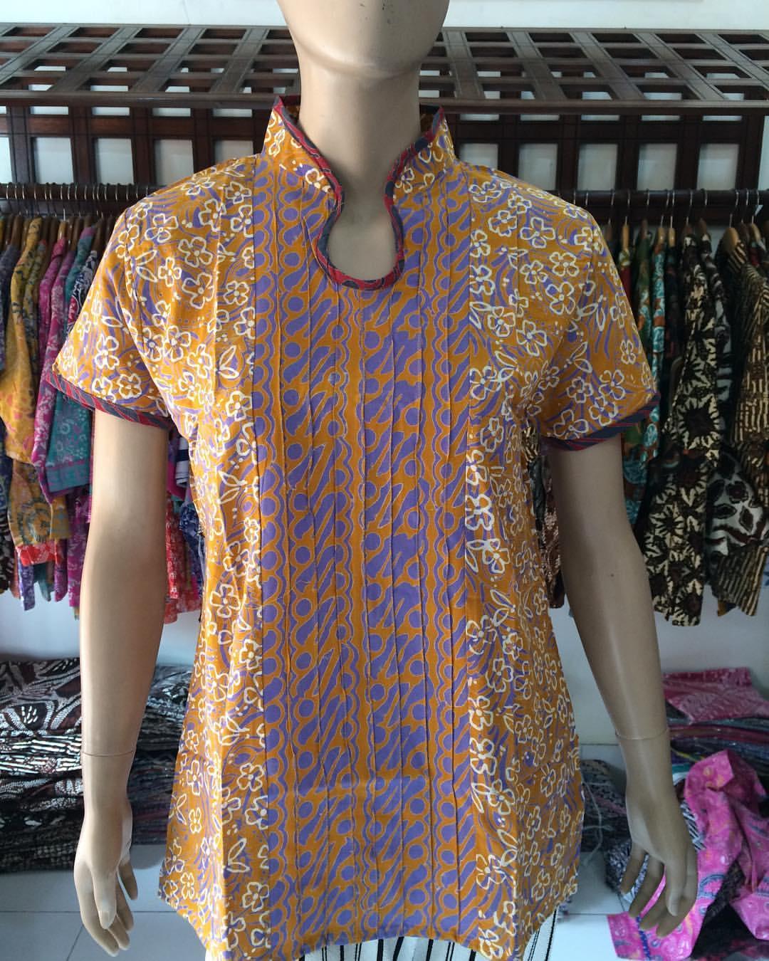 Model Baju Batik Wanita Lengan Pendek Terbaru 18 7 Store Batik