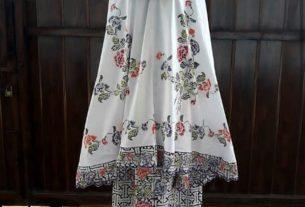 mukena batik cap halus kombinasi bordir