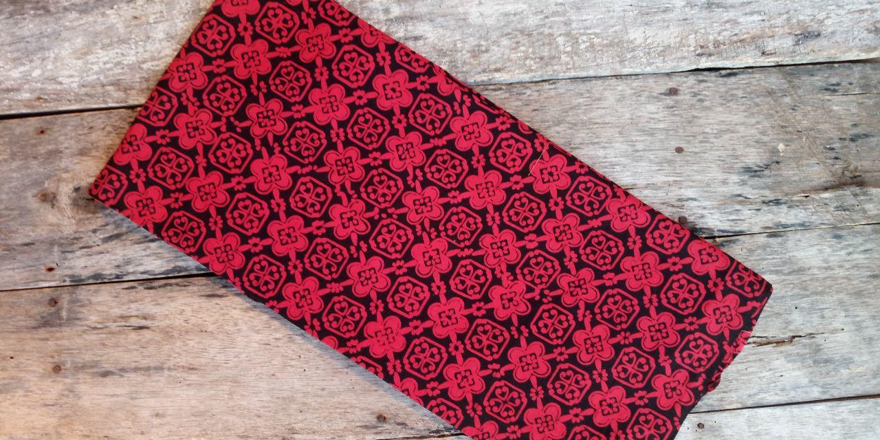 kain batik cap bahan prima warna merah hitam harga murah