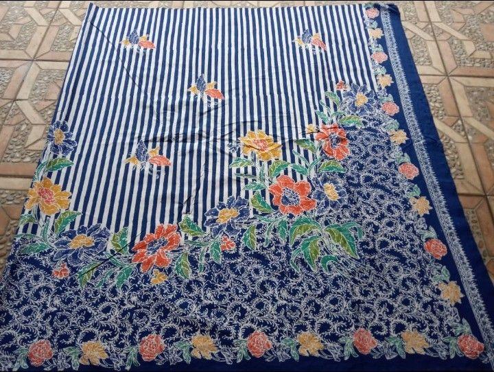 kain batik encim halus motif hokokai kombinasi garis
