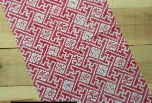 kain batik cap halus warna merah putih bahan katun
