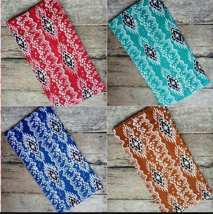 kain batik cap motif garutan bahan katun
