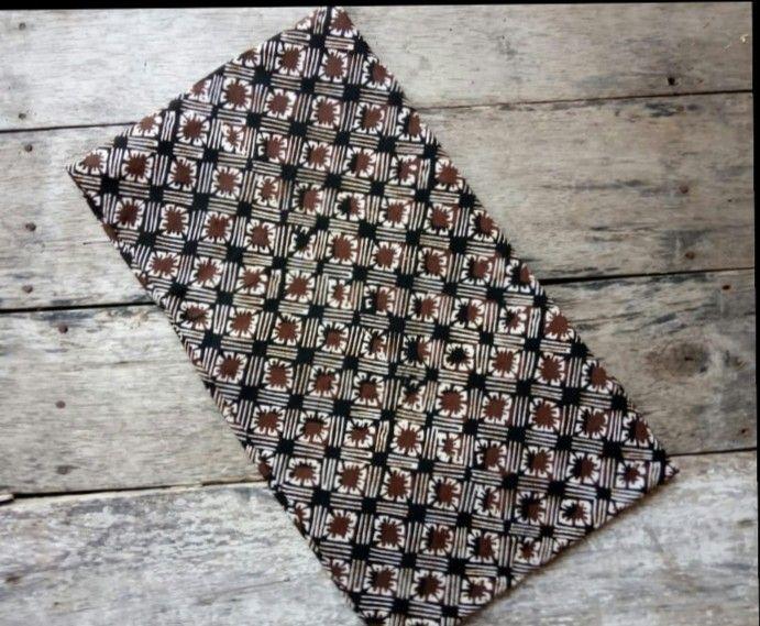 kumpulan batik cap asli motif sogan nuansa warna coklat