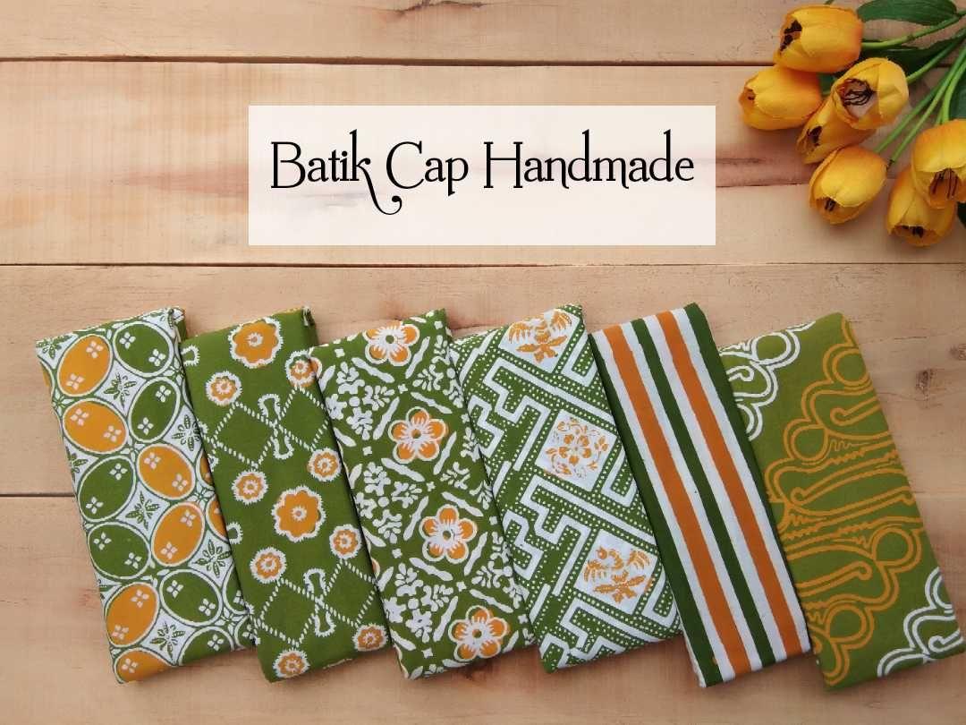 kumpulan kain batik halus motif garutan warna hijau