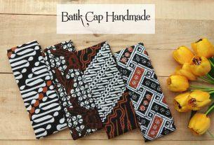 kumpulan kain batik cap warna coklat berbagai pilihan motif