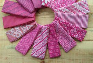galeri lengkap kain batik cap halus motif garutan warna pink