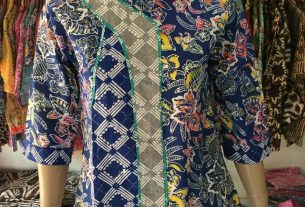 baju batik wanita proses batik cap
