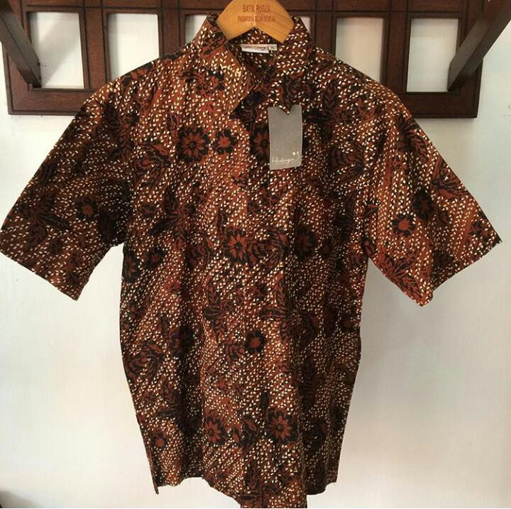 baju batik sogan cap asli