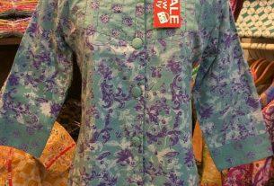 contoh baju batik wanita untuk kerja terbaru