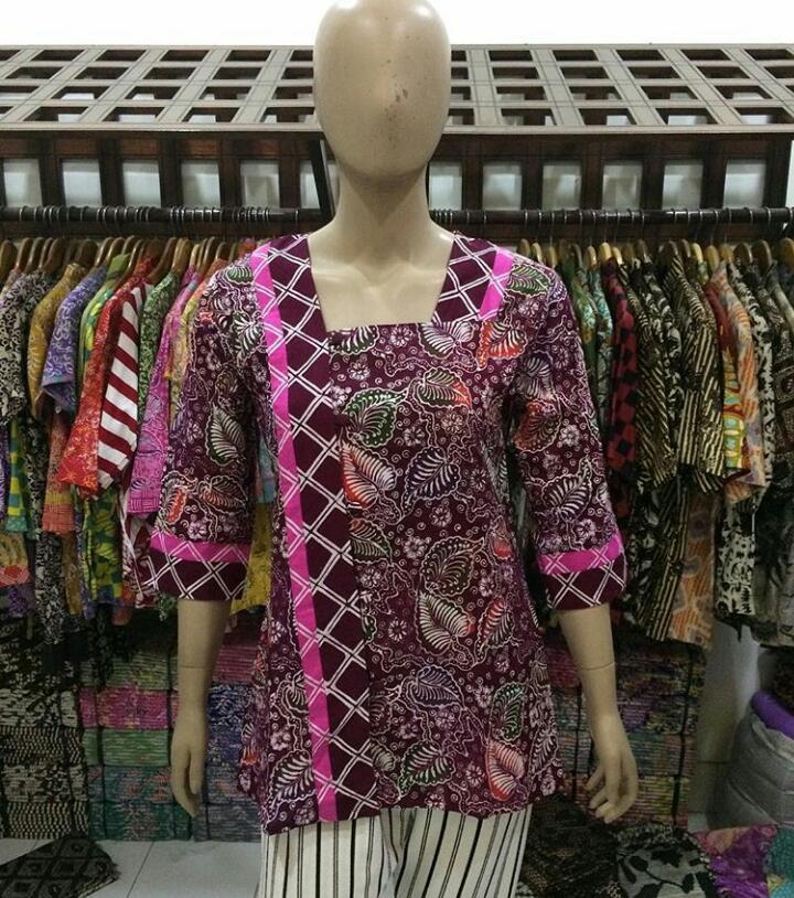 jual baju batik wanita model blouse