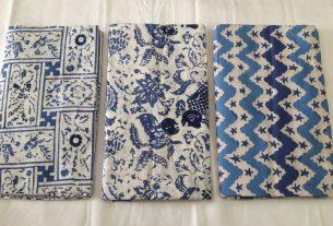 batik cap kain katun warna indigo