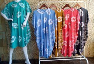 daster batik cap warna soft bahan adem nyaman