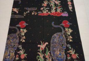 kain batik tulis motif macan