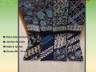 Kain Batik Cap Warna Biru Hitam Terbaru